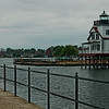 Relocated Roanoke River Lighthouse on Edenton Harbor
