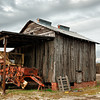 Old Tobacco Barn and Peanut Harvester