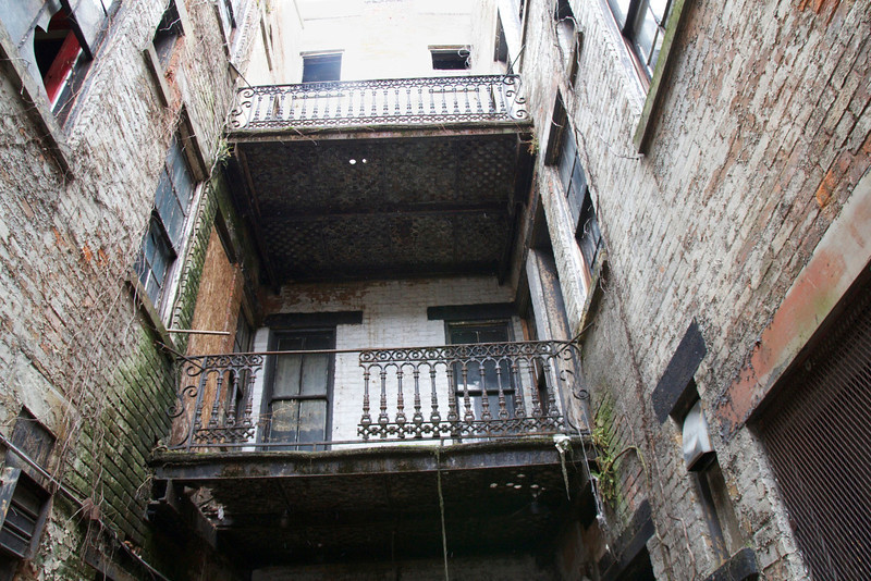 This is where the tour started. This area was described as being part of luxury accommodations at one time. Over the Rhine was so densly populated that ia little interior space with actual grass and privacy  was the province of the well-to -do