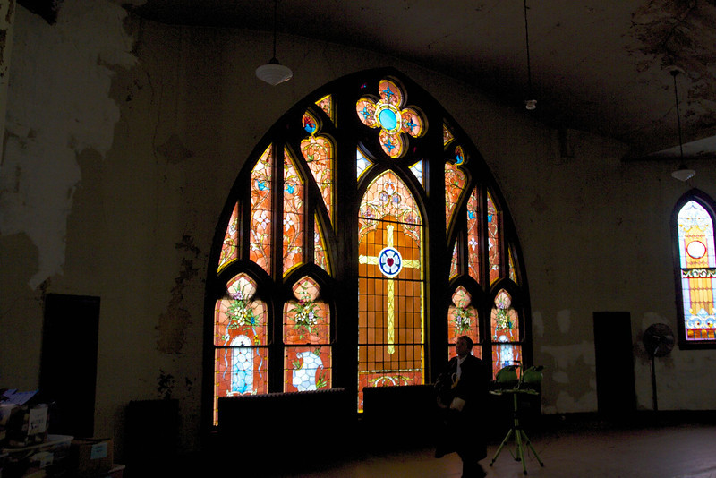 First Lutheran upstairs Interior work.