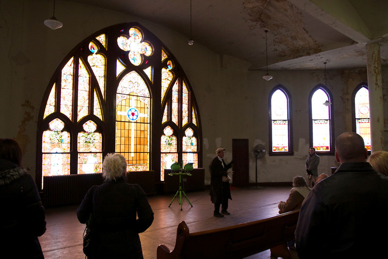 Upstairs at First Lutheran.