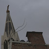 Not sure to which church this steeple belongs.