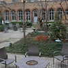 The courtyard of the rectory at St Serpahs.