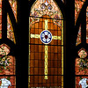 First Lutheran had some beautiful stained glass throughout the building. They are working to restore certain areas of the building. Age has taken a toll.