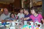 Poppy, Brooke, Megan, Anthony and Kelsey  Poppy and Nannys house, Easter