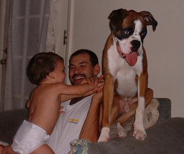 Nathan his dad and Zander