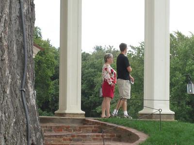 Peeking at tourists.
