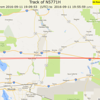 Not sure how this APRS track accepted a point in AZ as valid.