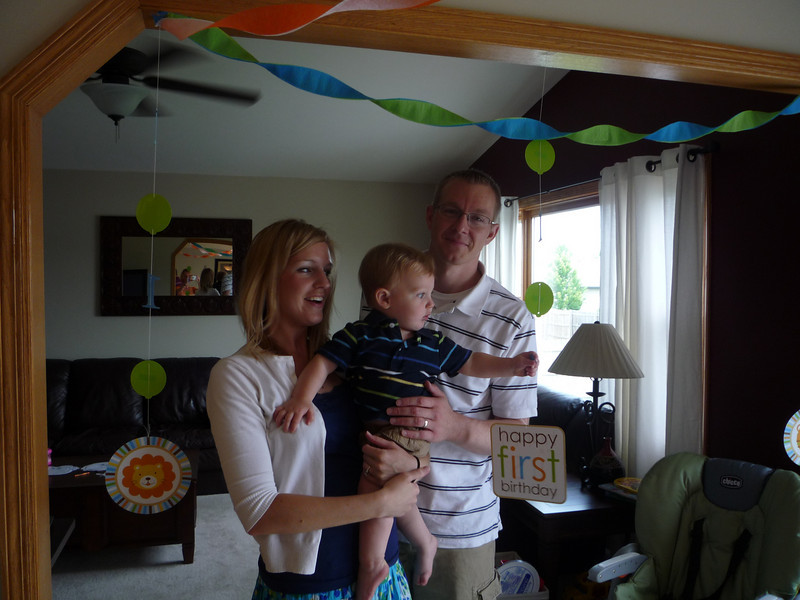 Owen starts taking down his party decorations even before the party starts.