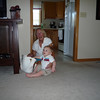 Owen meets Great-Grandma Irene and her purse for the first time.