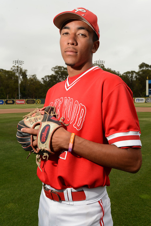 . Long Beach, Calif., -- 06-12-13- All Area Baseball - Co-Players of the Year JP Crawford of Lakewood    Stephen Carr/  Los Angeles Newspaper Group