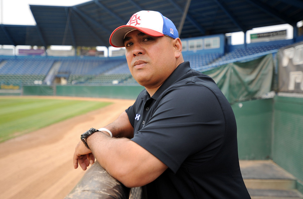 . Long Beach, Calif., -- 06-12-13- All Area Baseball - Coach of the Year Matt Nuez of Los Alamitos   Stephen Carr/  Los Angeles Newspaper Group