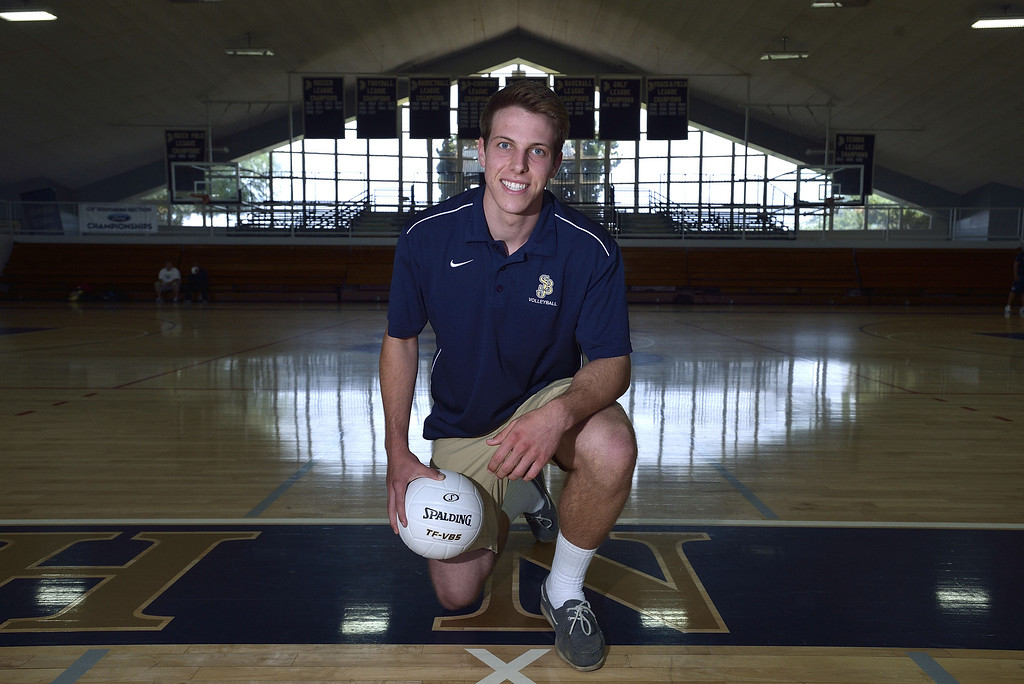 . BELLFLOWER, CALIF. USA --  Boy\'s Volleyball Dream Team Player of the Year Joey Pillon, of St. John Bosco High School, on Friday, May 17, 2013.  Photo by Jeff Gritchen / Los Angeles Newspaper Group