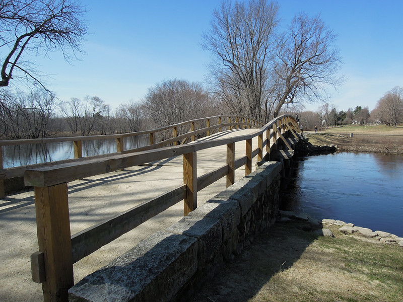 Old North Bridge at Minuteman National Park in Concord, Mass.