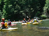 Chattooga Section 3.5.   Level 1.37 on the bridge gauge.  Flotilla!