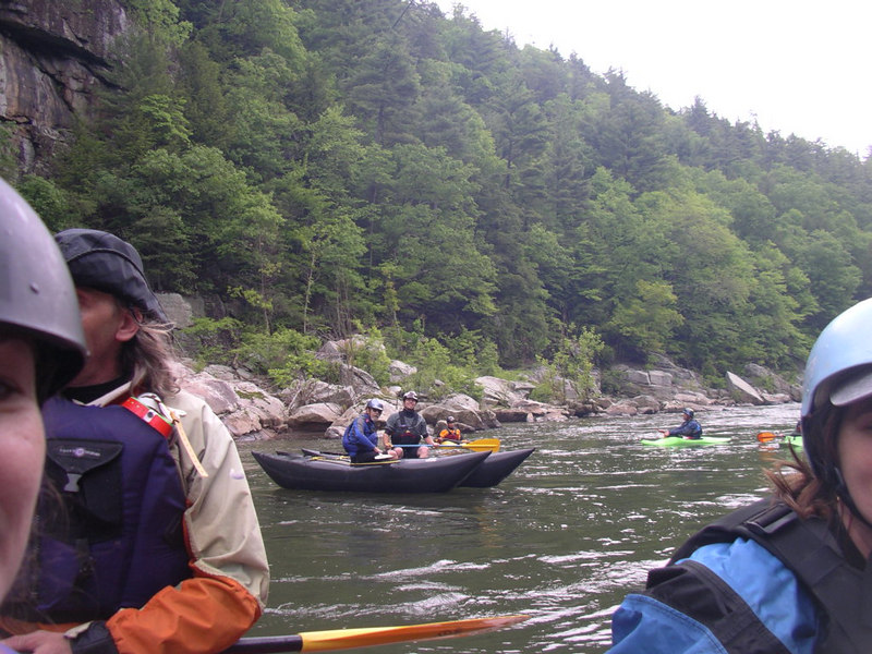 Dave and Ben Nisbeth on their Shredder.  We rafted the Nolichucky Gorge on Saturday May 20th.