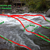 Lines thru Nantahala Falls, aka Little Wesser, on the Nantahala river in North Carolina.