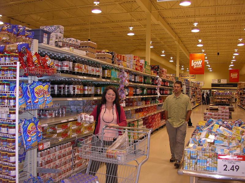 Amanda  and Derek Strembicke stocking up groceries in Ottawa.