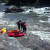 Boaters scouting Sweet's Falls, Upper Gauley
