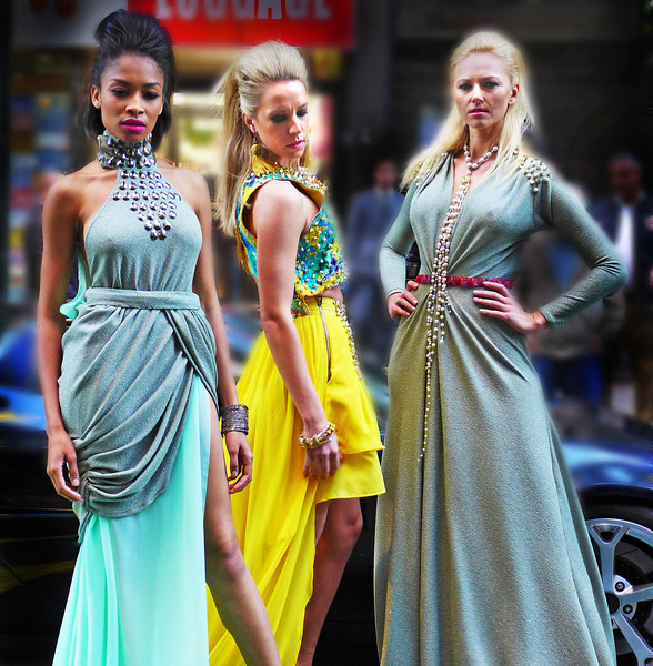 33rd Street Manhattan- Models posing in the street- PanaLeica Digicam with 1.4 Vario Summilux
