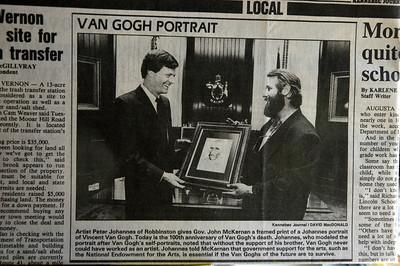 VINCENT VAN GOGH MEMORIAL JULY 29 1990