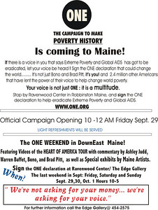 THE FIRST ONE! CAMPAIGN  EVER ORGANIZED IN MAINE.