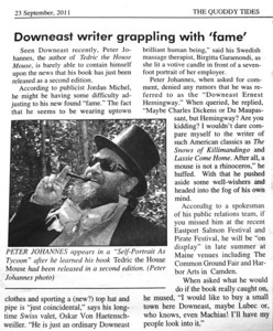 ARTICLE IN THE QUODDY TIDES