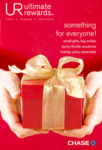 Holiday issue for JP Morgan Chase Ultimate Rewards. Stock photo.