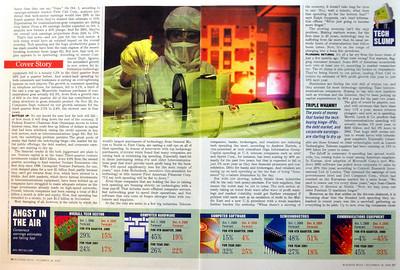 Business Week magazine. Stock agency photos.
