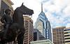 A landmark structure, One Liberty Place dominates the Philadelphia skyline.  Photo by Geoff Patton