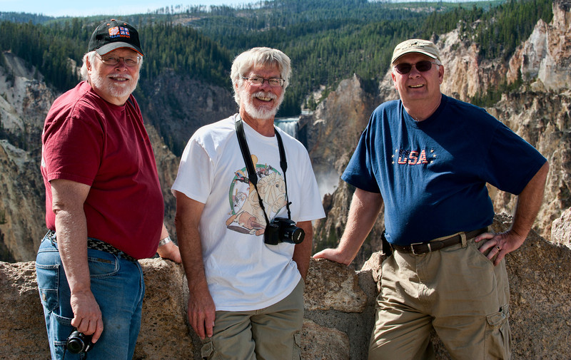 Greg Bennett   Washington State<br /> John Thompson  Washington State<br /> Curt Brandt  Maryland<br /> <br /> Yellowstone Little Falls<br /> Yellowstone National Park  2011