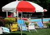 The Karakung Swim Club is open and there are chairs to be had.  The swim club celebrated its fiftieth anniversary. this year.  Photo by Anne Neborak Delco News Network