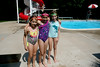 Looking fashionable in their swimwear are Sarah Levin, age 9,Sabrina Alan, age 9 and Rachel Levin,  age 9 .  Alan is visiting her cousins. She is from Alexandria New Hampshire. Photo by Anne Neborak Delco News Network