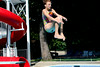Megan Stevens, age 13, dives off the board. Photo by Anne Neborak Delco News Network.