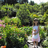 Emma Costain in front of the lily pond at the Ropes Mansion public garden in Aug. 2008.