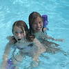 Friends Laura Levesque and Katherine Meaney of Ipswich, swimming in Laura's grandmother's pool in Wenham on a hot summer day in July 2008. Both girls attend the Doyon School in Ipswich as second-graders.