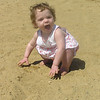 Kaia Roper on the beach.