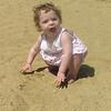Kaia Roper on the beach.