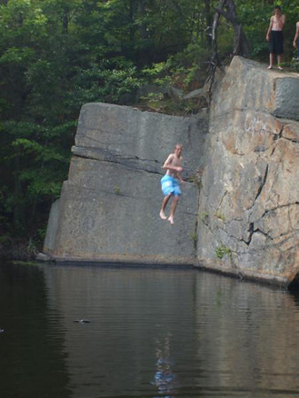 Jeff Williams, age 17, from Peabody, at Gloucester quarry.