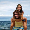 Tanya Williams and Nicole Casper, both age 15, both from Peabody, at beach in Rockport.