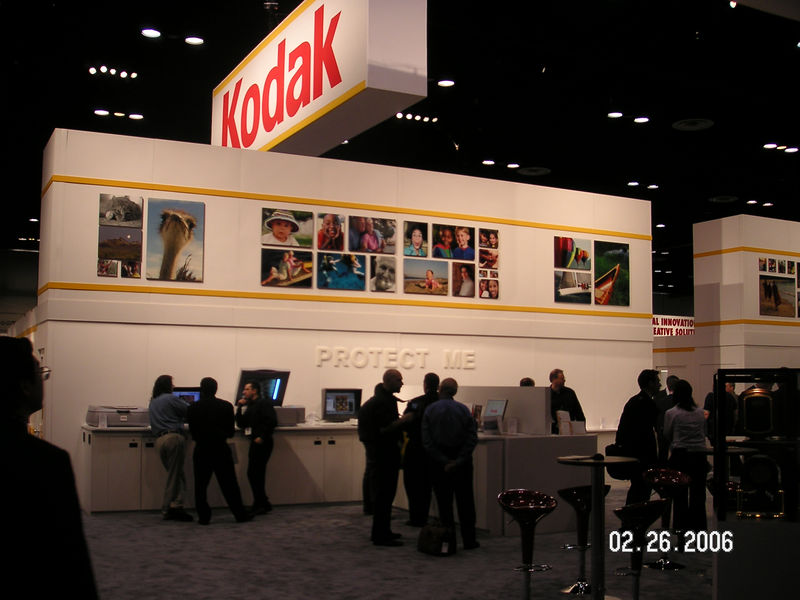 Kodak had a massive booth,<br /> <br /> Keep Me<br /> Protect Me<br /> Share Me