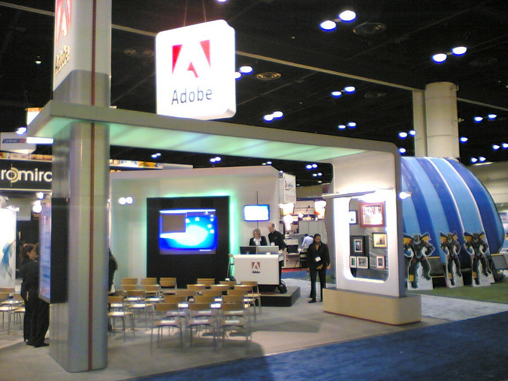 Close up of our booth.<br /> <br /> Notice the transparent wall with the photo's on it over on the right.<br /> Great presence for APS.
