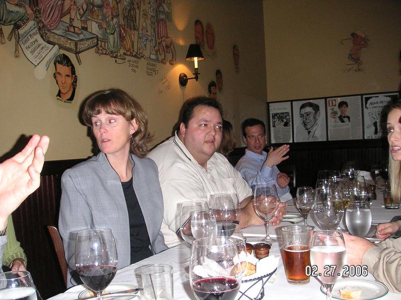 Partner dinner:<br /> Sandy and Robert from EventPix