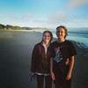 Beth and Quin on the beach at Newport