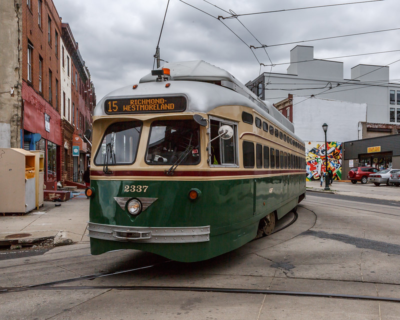 Septa Trolley on Girard Avenue