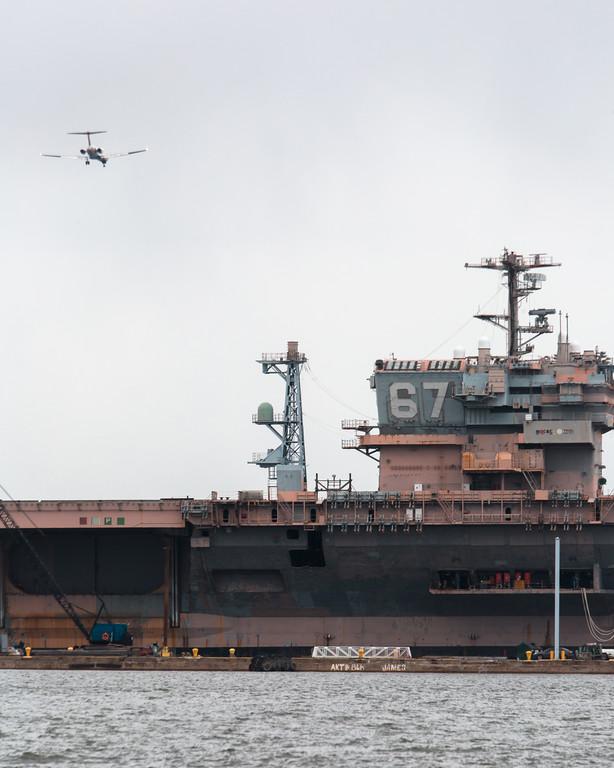 Big Ship and an Airplane
