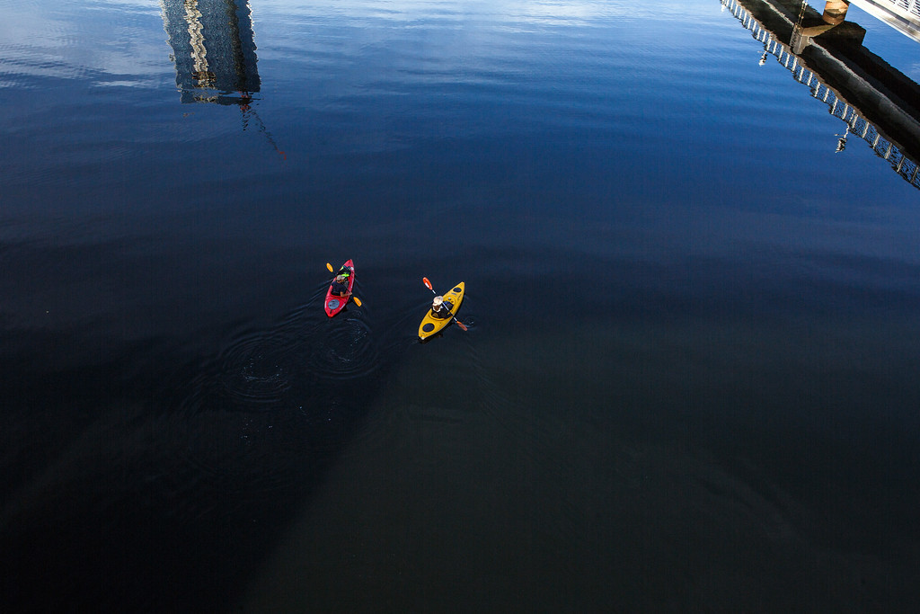 Kayakers on the Schuylkill