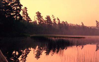 1 30 2015 Sand Lake Dawn, Five Ponds Wilderness, ADKs, NY, July, 1988b