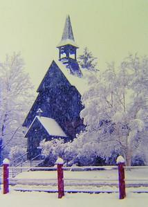 2 12 2015 Snowy morning -St Lukes Episcopal Church, feb 1981