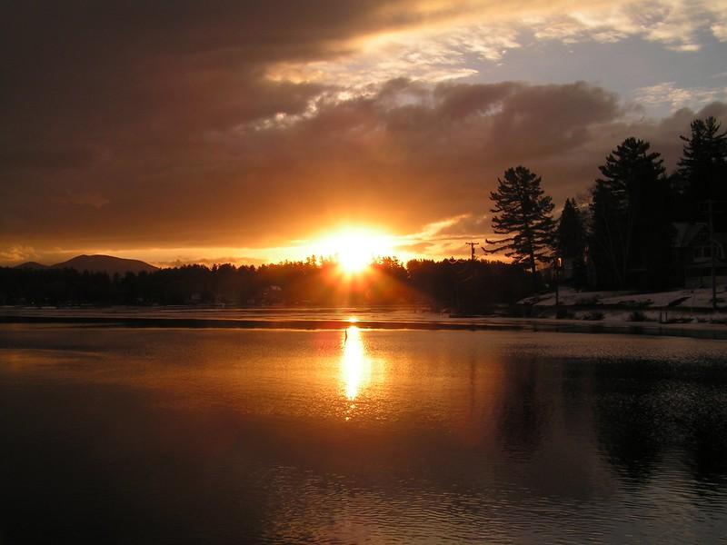 1 1 2015 Lake Flower sunrise, jan 21, 2006a